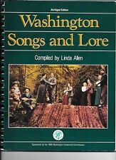 WASHINGTON STATE SONGS AND LOVE LORE CENTENNIAL EDTION SPIRALBOUND SONG BOOK