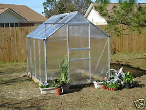 6' x 8' GREEN HOUSE GREENHOUSE Polycarbonate Panels!