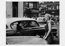 Kim Novak New York City street scene 1950's Vertigo starlet Photo POSTCARD