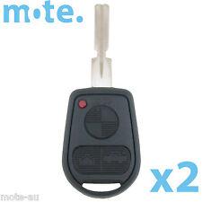 2 x BMW 3 Button Key Remote Case/Shell/Blank 3-5-7 SERIES X3 X5 Z4 E38 E39 E46