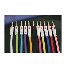 Adaptateur AUX CABLE CORDON PLAT STEREO JACK 1m Male/Male IPHONE 5 5S 5C 3.5mm