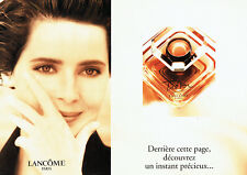 Publicité Advertising 117  1994   parfum Trésor Lancome  Isabella Rossellini (3p