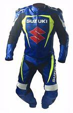 SUZUKI-GSXR moto cuero traje Racing Moto en diseño perforada (Rep)