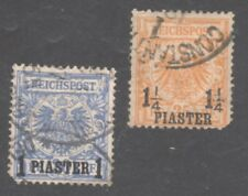 Germany, Offices Turkey Stamps #10-11 — (2) Surcharged - 1899 - Used