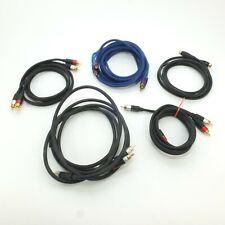 RCA Audio Cable Lot of 5 Mediabridge AmazonBasics InstallGear S-Video Subwoofer