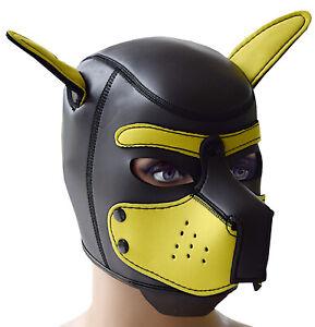 Hundemaske Puppy Neoprenmaske Kopfmaske Maske BDSM Fetisch Dog Play neu