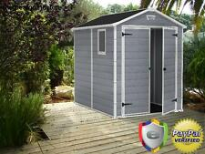 New listing Keter Manor Large 6 x 8 ft. Resin Outdoor Backyard Garden Storage Shed Garage