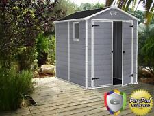 Keter Manor Large 6 x 8 ft. Resin Outdoor Backyard Garden Storage Shed Garage