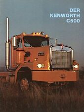Prospekt D Truck Kenworth C500 1977 Autoprospekt LKWs Broschüre brochure