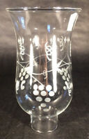 "Clear Grapes Glass Hurricane Lamp Shade Candle Chandelier Light, 3 1/2"" x 6 1/2"""