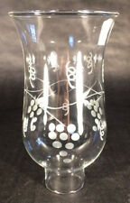 """Clear Grapes Glass Hurricane Lamp Shade Candle Chandelier Light, 3 1/2"""" x 6 1/2"""""""