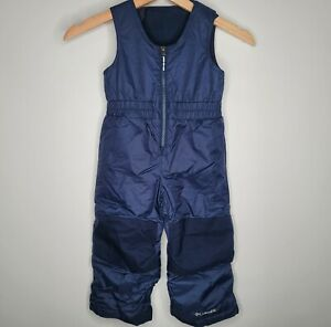 Columbia Youth Unisex Toddler Insulated Snow Pants Bib sz 3T Blue Outgrown