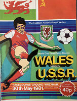 WALES V USSR WORLD CUP QUALIFYING ROUND 1981