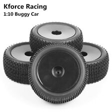 4X Front Rear Rubber Tires&Wheel Rim 12mm Hex For HSP RC 1:10 Buggy Off-Road Car