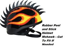 hard hat helmet rubber peel stick mohawks hardhats horse helmets bmx skate SAW