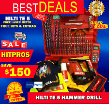 Hilti Te 5 Hammer Drill Lk Free Measurer Free Drill Bits Fast Shipping