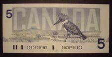 Canada 1986 BC-56c $5 Note GOZ0930102 - ChUnc