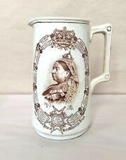 Queen Victoria Empress 1897 Jubilee English Porcelain Photo Pitcher Jug W&W