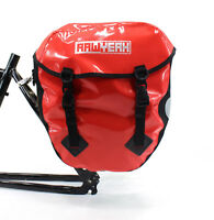 AAWYEAH LARGE WATERPROOF RED BICYCLE PANNIER BAG