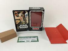 """custom vintage Star wars 12"""" r5-d4 box + inserts"""