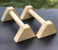 wooden parallettes Callisthenics Gimnastics Handstand, Push Up Bars Non-slip