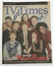 PHIL HARTMAN Andy Dick STEPHEN ROOT Signed NEWS RADIO TV Times Magazine BECKETT