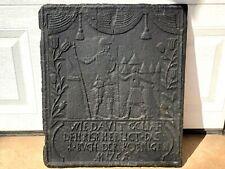 (n°1)  OLD CHIMNEY PLATE / ANCIENNE PLAQUE DE CHEMINÉE EN FONTE XVIIIe