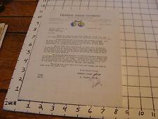 vintage letter: GENERAL STAMP CO. Oct. 4, 1946: signed L. Tankel