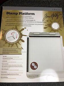 Tim Holtz Stamp Platform & Case new in original box