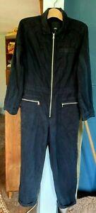 Ladies River Island Black One Piece Jumpsuit Boiler Suit UK 10 EU 36