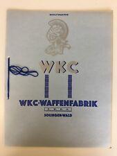 WW2 German/Germany WKC sword and dagger sales Catalogue 1938 Edition & pricelist