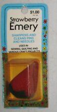Vintage Strawberry Emery Sewing pin Needles holder & Sharpener