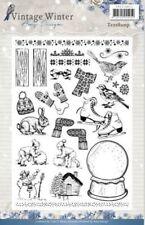 Amy Diseño Vintage Invierno claro sello conjunto 20 un. ADCS 10021