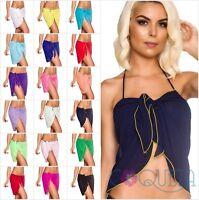 Coqueta Short Chiffon Wrap Pareo Cover up Bathing Suit Sarong Canga Swimsuit New