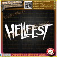 sticker hellfest metal rock heavy corne diable acdc metallica 666