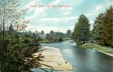 c1910 Postcard; Cedar River near Lake Washington WA King County Posted