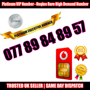 PLATINUM Number - VIP Executive Sim - 077 89 84 89 57 - Easy to Memorise