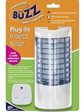 The Buzz Plug- In Insect Killer- Lures Insects Fly Moth Mosquitoes Midges Kill