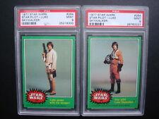 Lot Topps 1977 *STAR WARS Green* PSA 9 ERROR + Correct Key #264 Mis-Slabbed CARD