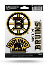 Boston Bruins Triple Spirit Sticker Sheet Die Cut Decal NHL New Full Color Logo