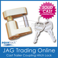 COMPACT TRAILER COUPLING HITCH LASER LOCK & KEYS - Caravan/4x4/Boat Anti-Theft