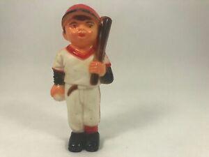 Vintage Baseball Player Cake Topper MLB Little League Red & White