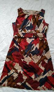 Womens clothing Liz Jordan Red Shift Dress Size16