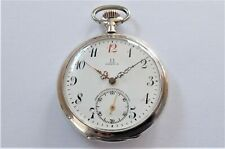 Jewelled Swiss Lever Pocket Watch Working 1900 Gold & Silver Omega 15