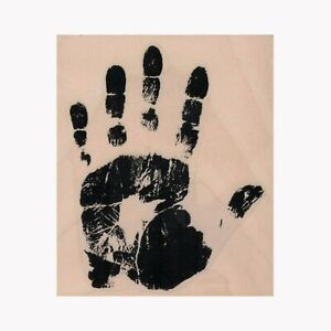 Mounted Rubber Stamp, Hand Print, Halloween, Bloody Hand, Hand Silhouette, Hand