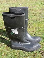 STEEL TOE RUBBER BOOTS 12 DUNLOP U.S.A. STEEL ARCHES C.S.A. APPROVED AS NEW A1