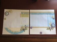 "Celebrate (CTMH) Embellished 2-page 12"" X 12"" Scrapbook Layout"