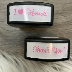 Thank You Referrals Self Inking Pink Ink Stamps Small Business