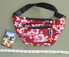 Hawaii Spirit Hawaiian Print Red Fanny Pack Belly Waist Bum Bag Belt Pouch H12