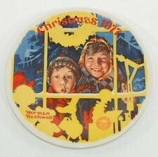 Vintage Norman Rockwell Collector Plate The Toy Shop Window Christmas 1977